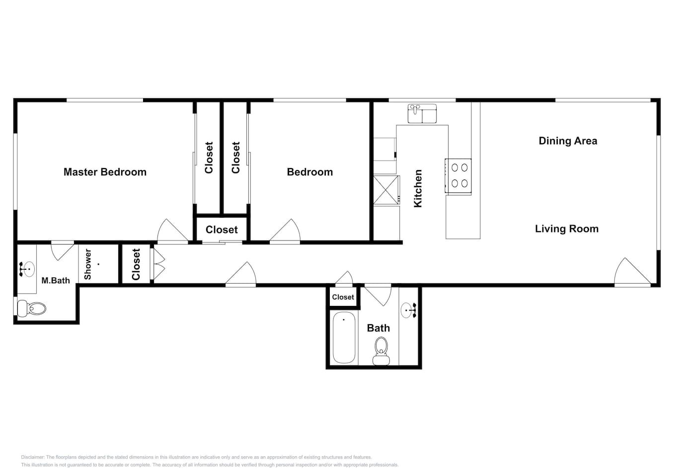 Floor Plan for Sweeping Ocean Views - Sleeps up to 6 but can add up 38 more in same building!!! We have 6 Beach Homes